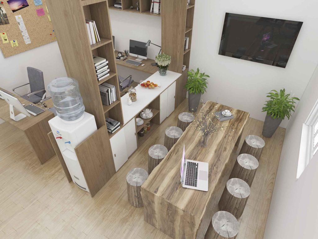 Thiết kế nội thất văn phòng đẹp làm tăng hứng thú trong công việc cho nhân viên