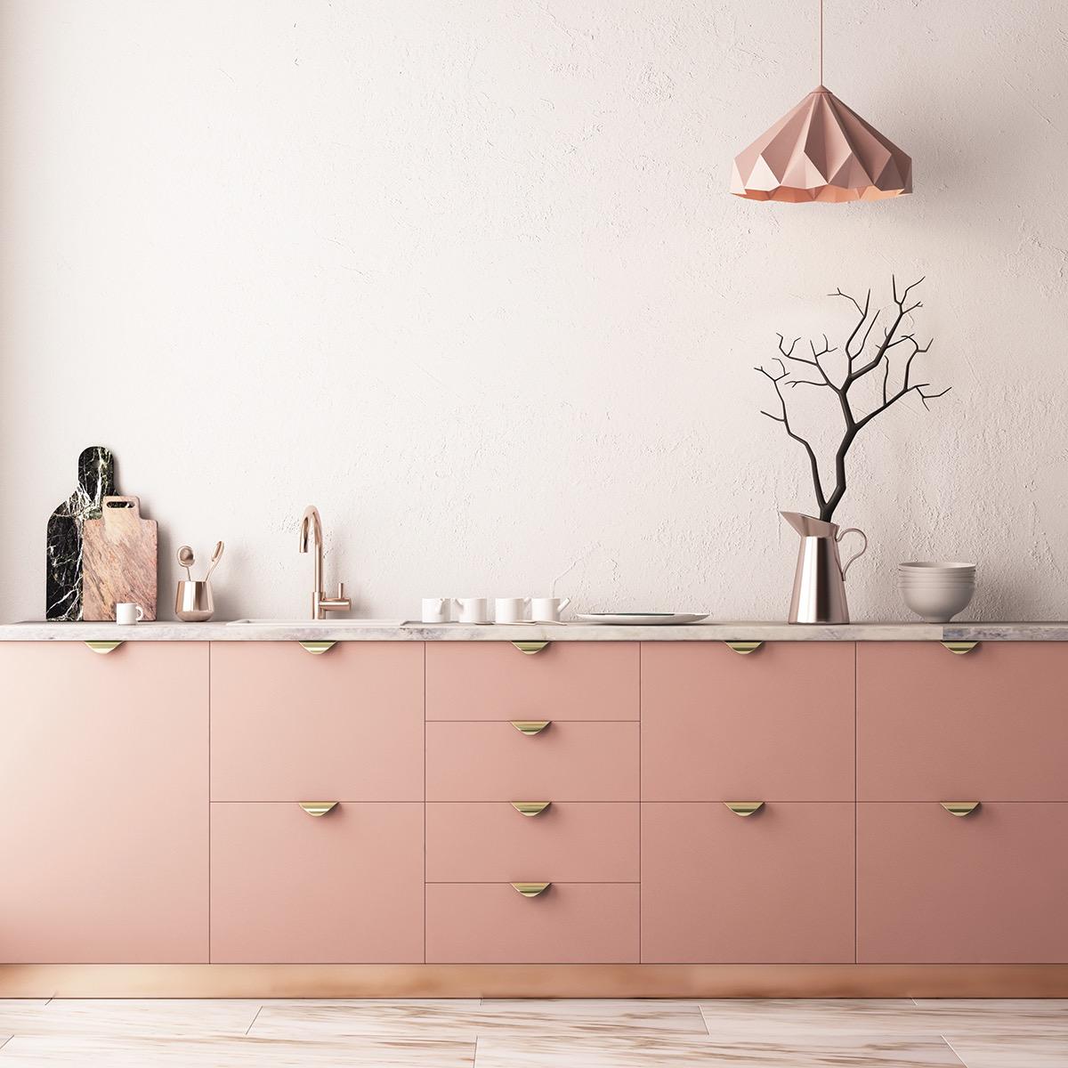 Blush kitchen light