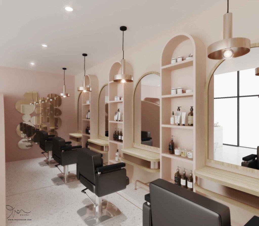 Tiệm làm móng kết hợp tiệm làm tóc