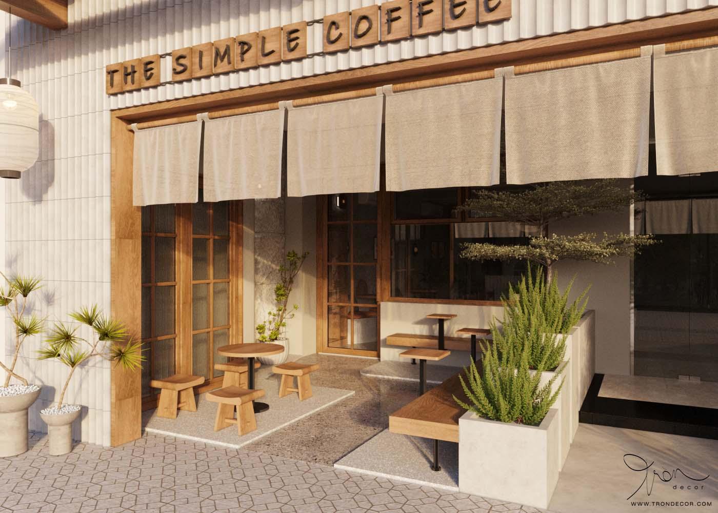 THIẾT KẾ NỘI THẤT QUÁN CÀ PHÊ 70M2 - THE SIMPLE COFFEE